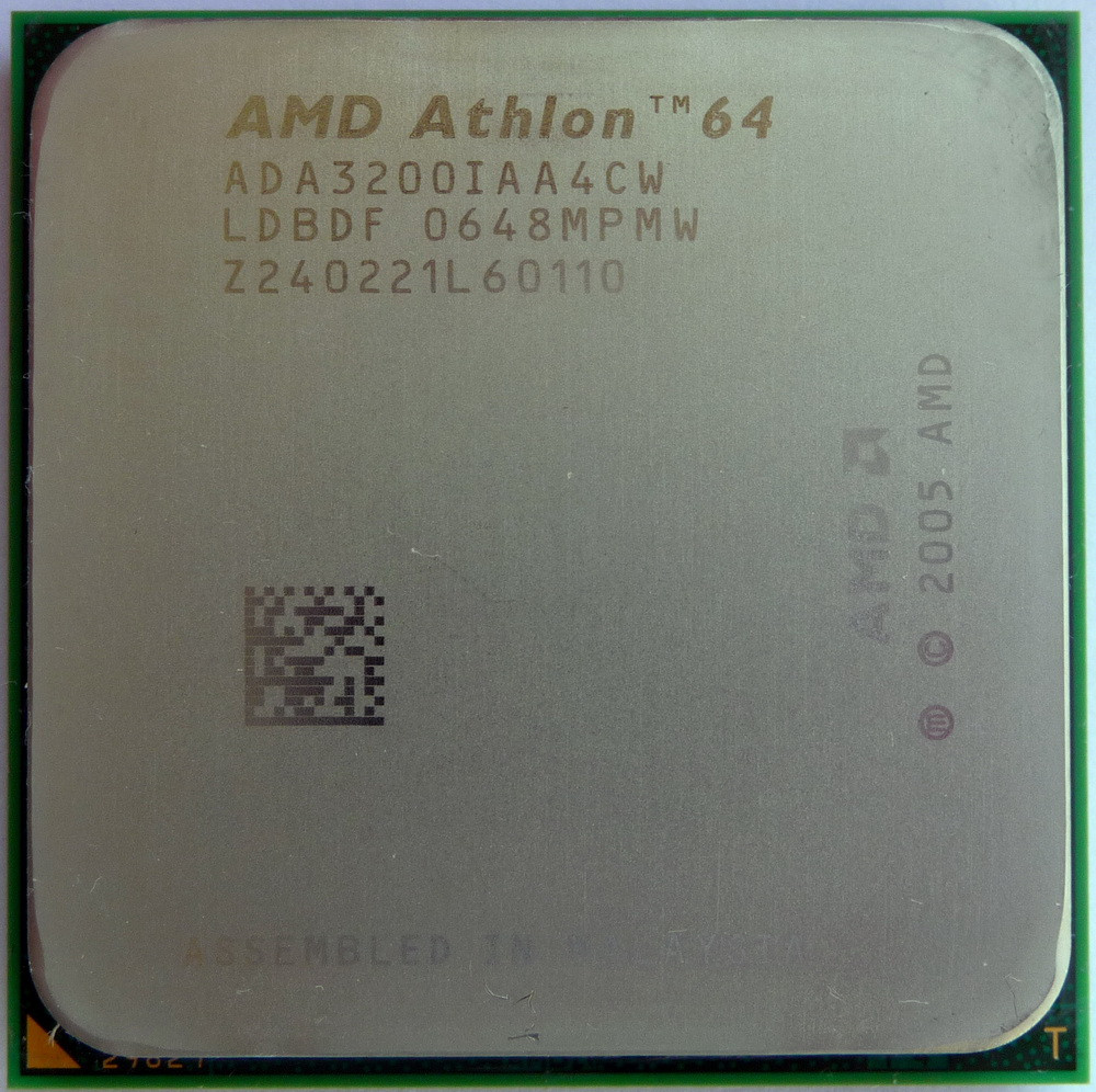 Процессор AMD Athlon 64 3200+ 2.0GHz/512K/2000 (ADA3200IAA4CW) sAM2, tray