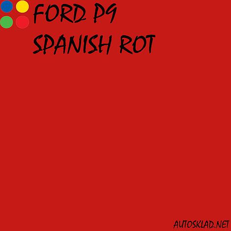 Автоэмаль краска акрил MOBIHEL Ford P9 Spanish Rot 0,75л без отвердителя, фото 2