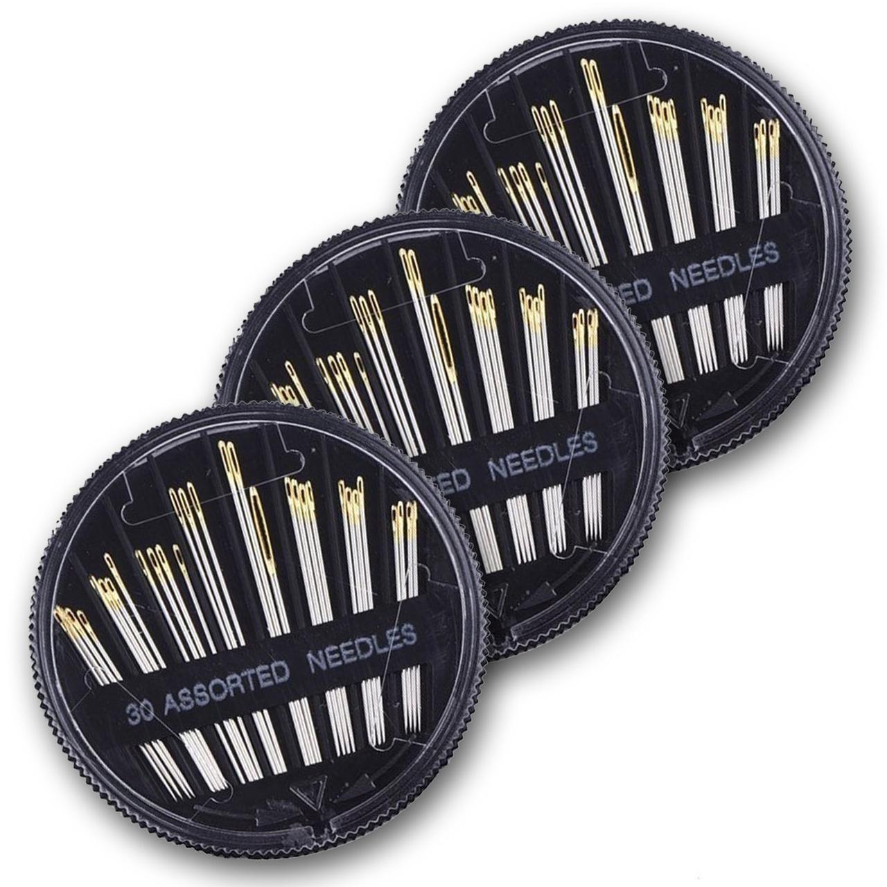 Набір голок Eschone для ручного шиття 3 коробки (90 шт) сталеві