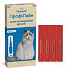 ПрофиЛайн капли на холку от блох и клещей для кошек 4-8кг
