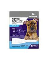 Капли на холку от блох,клещей комаров Паладиум Серебряная защита для собак от 10до 20кгТуба 3мл