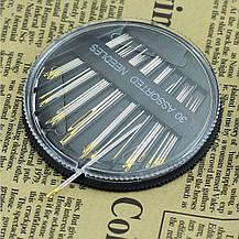 Набір голок Eschone для ручного шиття 3 коробки (90 шт) сталеві, фото 3