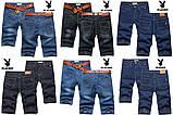 PLAYBOY шорты мужские джинсовые плейбой, фото 2