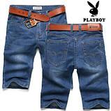 PLAYBOY шорты мужские джинсовые плейбой, фото 3