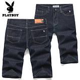 PLAYBOY шорты мужские джинсовые плейбой, фото 4