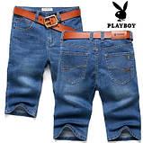 PLAYBOY шорты мужские джинсовые плейбой, фото 5