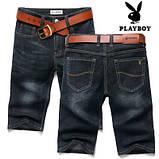PLAYBOY шорты мужские джинсовые плейбой, фото 6