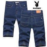 PLAYBOY шорты мужские джинсовые плейбой, фото 7