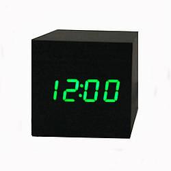 Часы-Будильник VST-869-1-Green с температурой и подсветкой