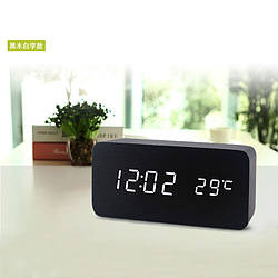 Часы-Будильник VST-862-1-White с температурой и подсветкой
