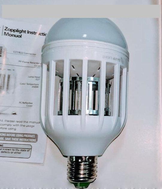 Лампа антимоскитная электрическая Zapp Light Led Lamp - уничтожитель насекомых, фото 2