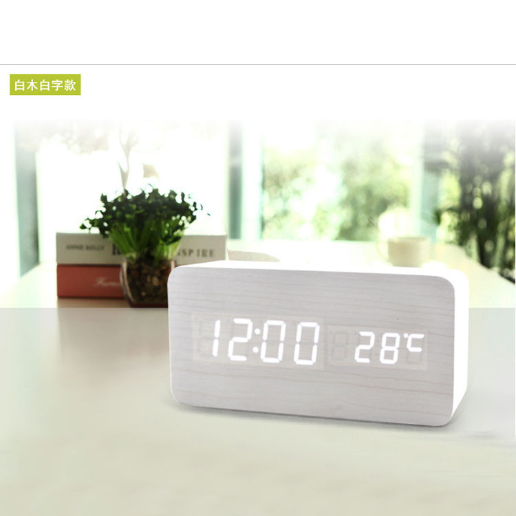 Часы-Будильник VST-862-2-White с температурой и подсветкой