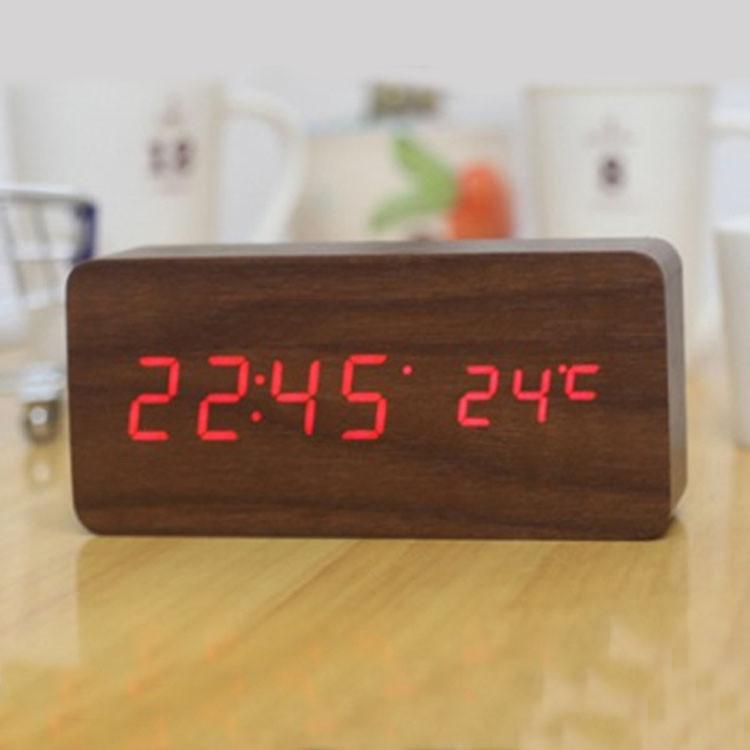 Часы-Будильник VST-862-4-Red с температурой и подсветкой