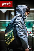 Городской стильный рюкзак PUNCH black-camo, фото 1