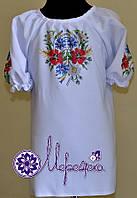 Пошитая вышиванка для девочки под вышивку