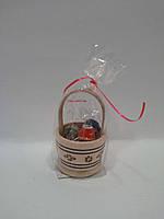 УС Корзиночка с яйцами деревянный сувенир