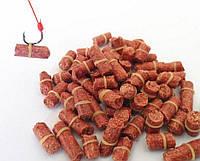 Рыболовная приманка для ловли карпа, гранулы с резинкой - красный червь