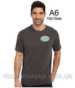 Печать на футболке в 1 цвет (флок)