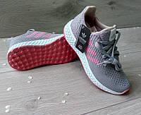 Женские кроссовки для спорта фитнеса Adidas 4D серые