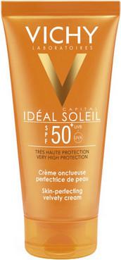 Солнцезащитный крем Vichy Capital Idéal Soleil Velvety Cream Complexion SPF 50+ для лица