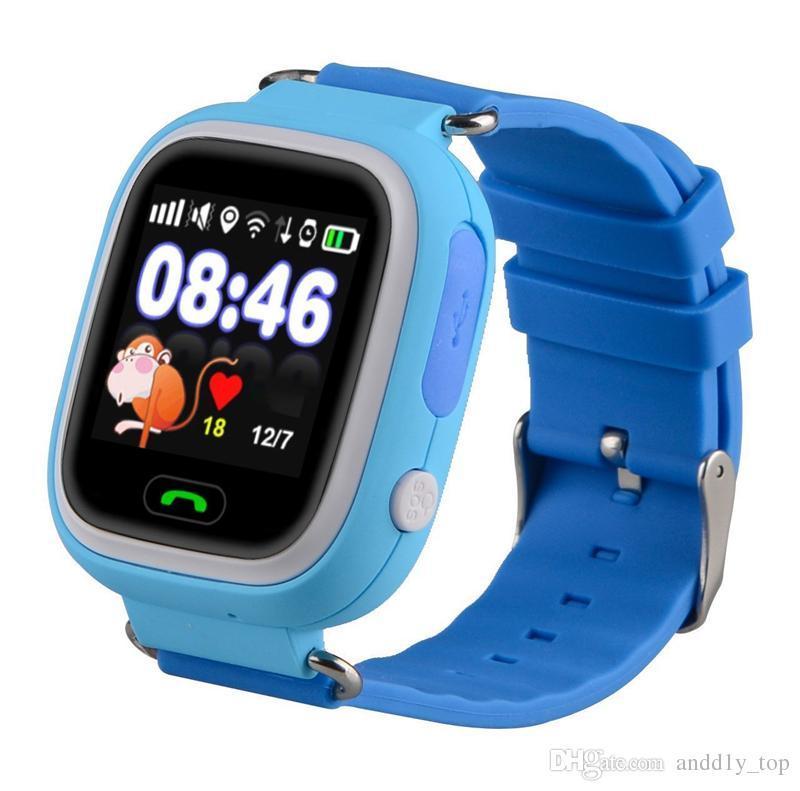 Детские Смарт часы с GPS Q90 Blue (Smart Watch) Умные часы