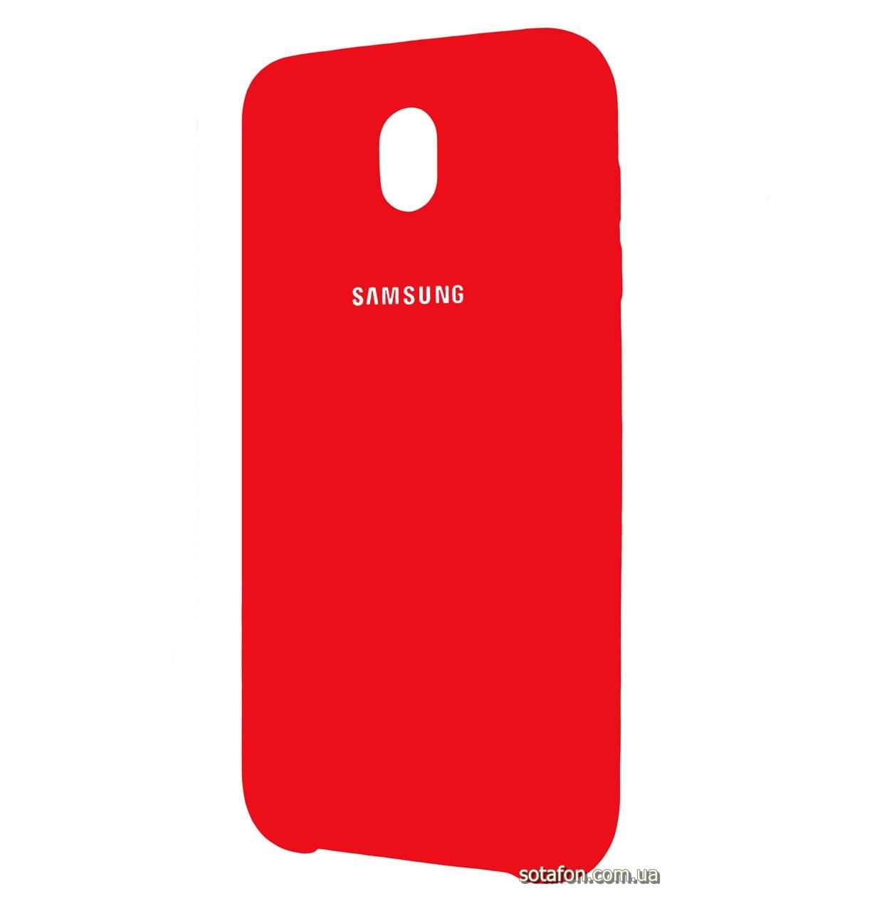 Чехол-накладка Original Silicone case на Samsung Galaxy J7 (2017) SM-J730F Red