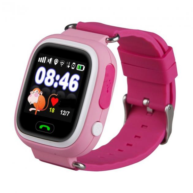Детские Смарт часы с GPS Q90 Pink (Smart Watch) Умные часы