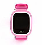 Детские Смарт часы с GPS Q90 Pink (Smart Watch) Умные часы, фото 2