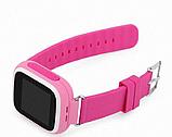 Детские Смарт часы с GPS Q90 Pink (Smart Watch) Умные часы, фото 4