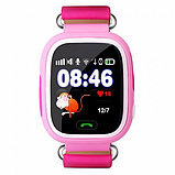 Детские Смарт часы с GPS Q90 Pink (Smart Watch) Умные часы, фото 3