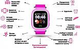 Детские Смарт часы с GPS Q90 Pink (Smart Watch) Умные часы, фото 5