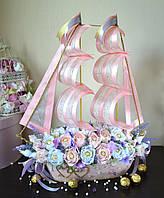 """Корабль из конфет """"Счастливы вдвоем"""", фото 1"""