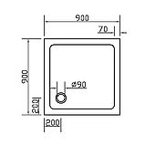 Поддон SMC 900*900*35 квадратный, фото 2