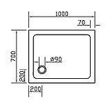 Піддон SMC 700*1000*35 прямокутний, фото 2
