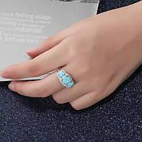 Серебряное кольцо - голубой опал100%КАЧЕСТВО!