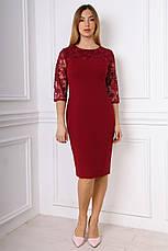Элегантное облегающее платье с гипюровой отделкой 50-54, фото 2