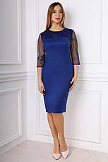 Элегантное облегающее платье с гипюровой отделкой 50-54, фото 3
