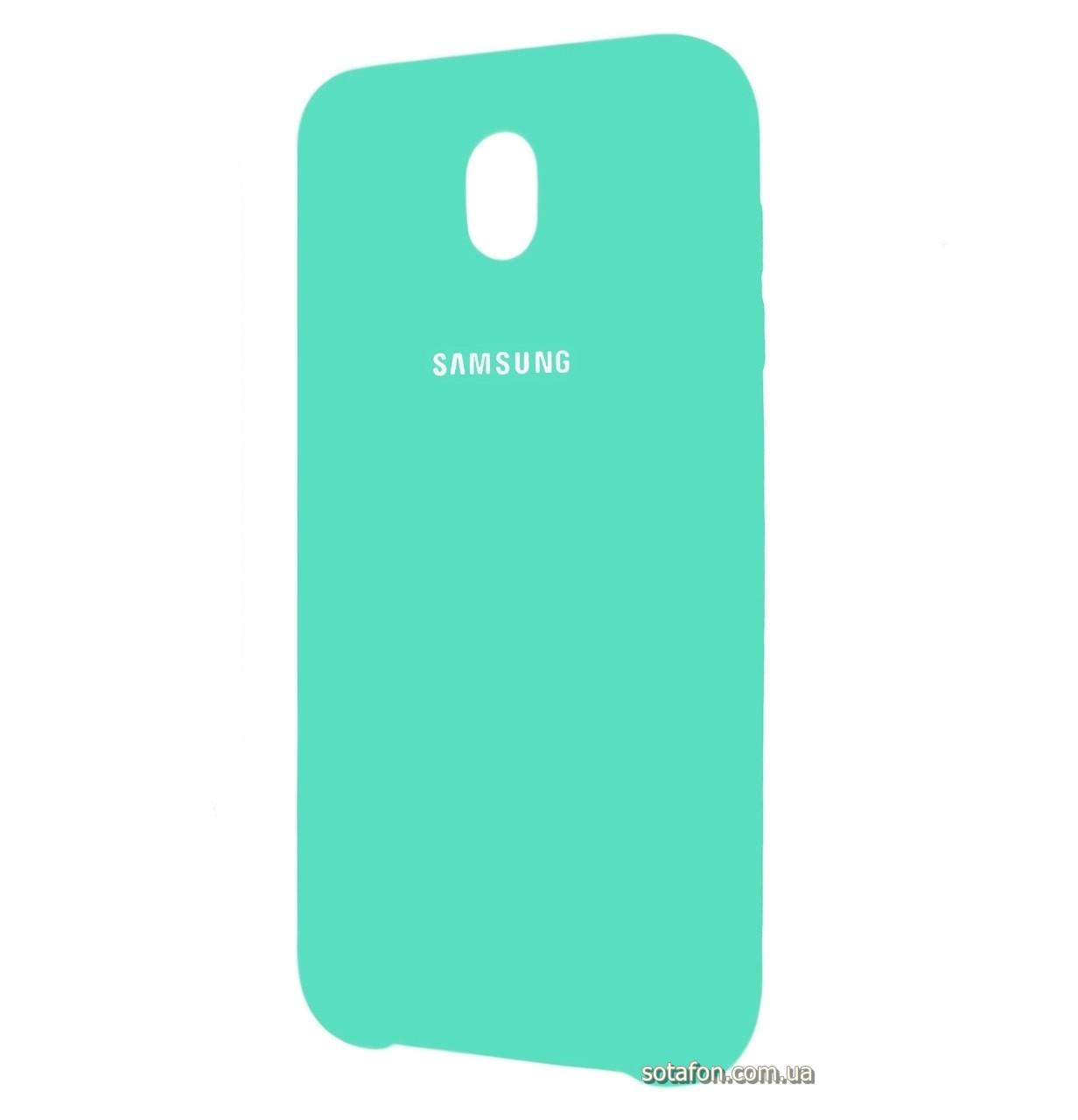 Чехол-накладка Original Silicone case на Samsung Galaxy J7 (2017) SM-J730F Mint