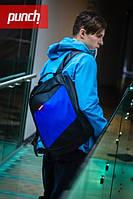 Стильный молодежный рюкзак PUNCH black-blue
