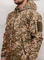 Тактическая куртка ПиксельВСУ(ММ-14) ЗСУ Софтшелл Soft Shell Typhon (Тайфун) Непромокаемая