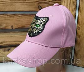 Женская кепка с декоративной нашивкой в виде кота, сезон весна-лето, с регулятором, размер 56-58, фото 3