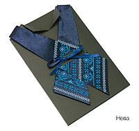Женский кросс-галстук с вышивкой «Нева»