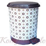 Ведро для мусора с педалью Рисунок 24л рисунки в ассортименте, фото 6