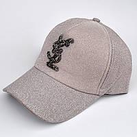 Стильная  кепка бейсболка с блестками.