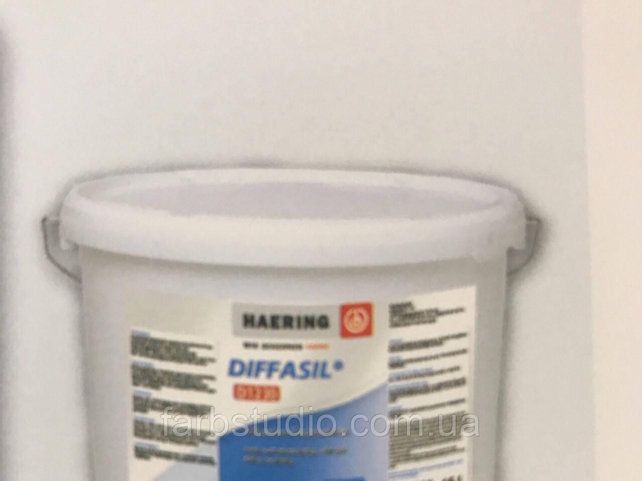 Краска фасадная матовая силиконовая Haering Diffasil D 1230 Германия 10 л база 1 белая для внешних работ