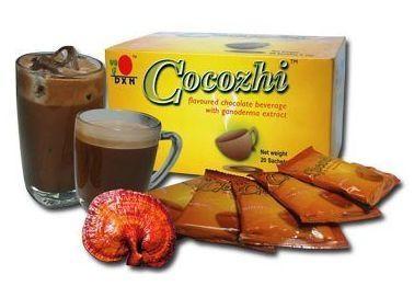 Какао с ганодермой Cocozhi --горячий шоколад! Оказывает бодрящее и омолаживающее действие 20 пак.,DXN,Малайзия