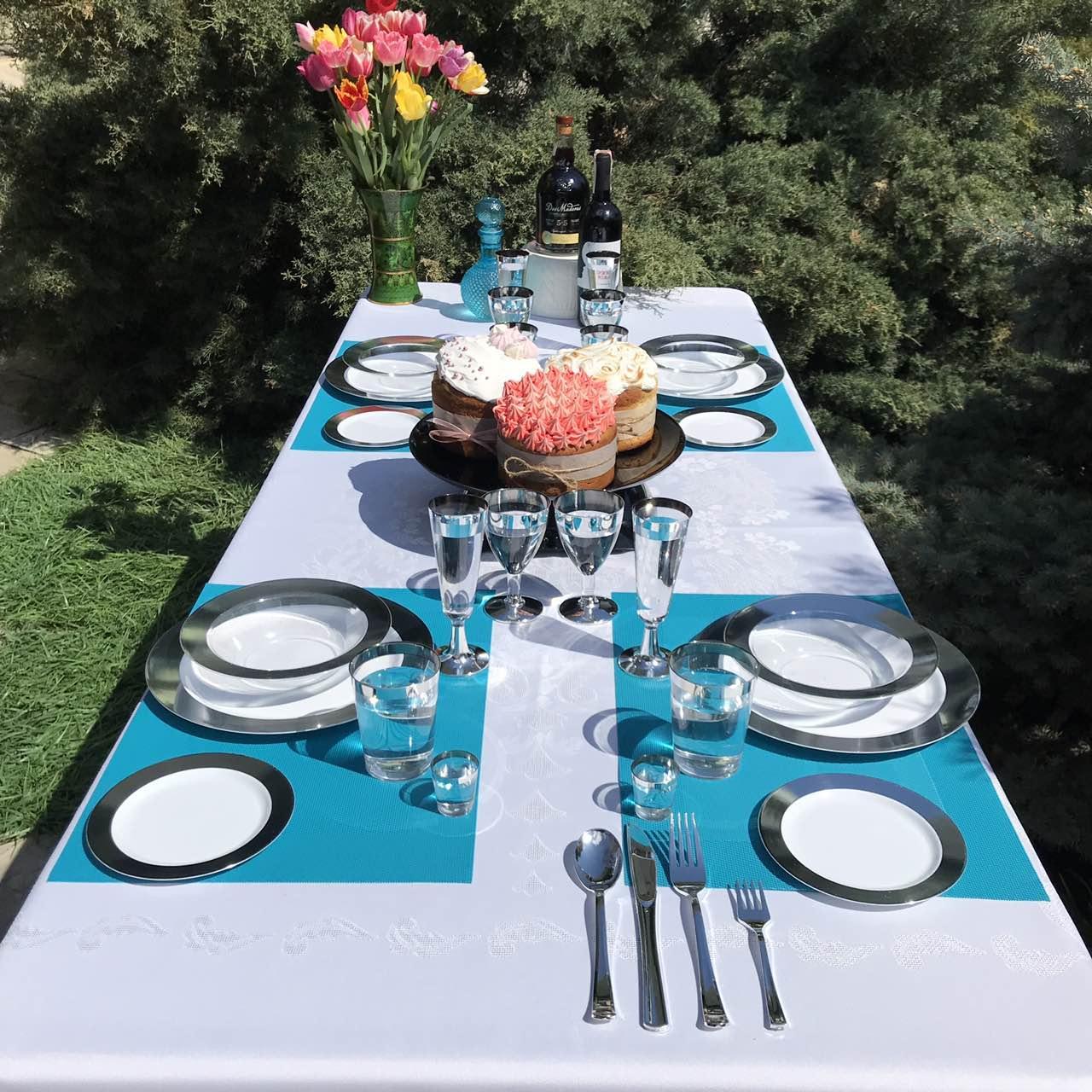 Одноразовая посуда многоразового использования Набор посуды Полная сервировка стола CFP 116шт/6пер