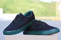 Мокасины черные с зеленым  Vigo 5238