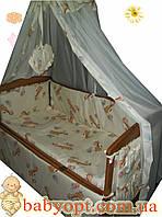 """Постельное бельё  Baby """"Жирафики беж. 8 элементов"""", фото 1"""