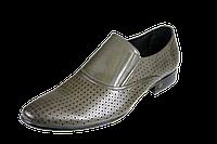 Мужские туфли кожанные классические перфорированные intershoes 14l239 коричневые   летние , фото 1